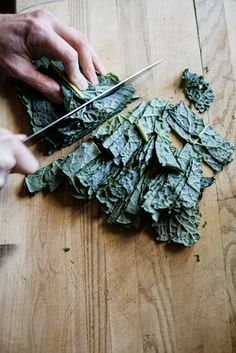 coat kale with olive oil, salt and pepper, then roast in the oven until crispy for potato chip-y snacks