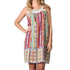 Angie Women's Aztec Print Dress