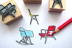 Eames chairs like a rubber stamp / by Citoyennes