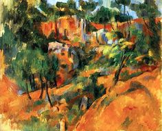 Corner of the Quarry Paul Cezanne - 1900-1902 cezann paul, impressionist paintings, quarri, barn foundat, post impression, corner, paul cezanne, art, paul cézann