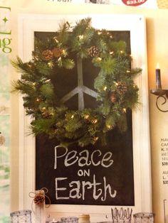 Wreath + chalkboard