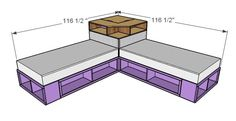 storag bed, twin platform bed diy, diy corner twin beds, boy rooms, platform beds