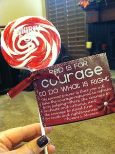 Great handout! church, young women, lds missionari, girl camp, lds young, lds life, activ, yw idea, courage handouts