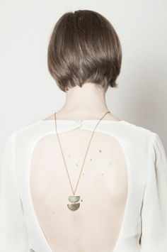 Halfmoon Stacked Brass Necklace by youngfrankk on Etsy, $56.00
