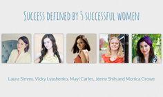 Success defined by 5 successful women at tasselflower blog