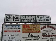 Image detail for -Brothel Advertising Sign near Carson City, Nevada - December 2006