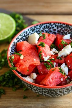 Watermelon Feta Salad (with mint), by @Alice Currah, from @PBS Food