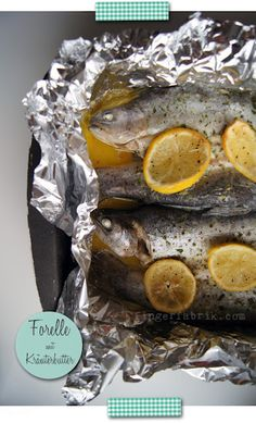 Trout with herb butter