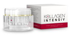 Kollagen Intensiv™ includes the very latest medical breakthroughs in natural collagen renewal, encouraging your skin to naturally increase collagen production for a visible reduction of wrinkles, fine lines, age spots, and more. Skin regains a more youthful appearance.
