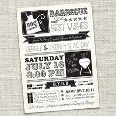 Couples shower invite, love the look