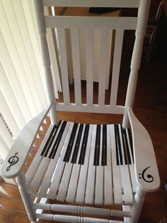 large piano rocking chair