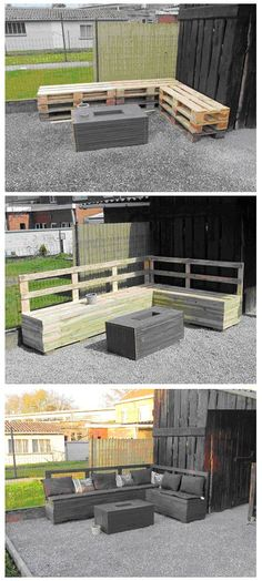 Salon de jardin 1001 palettes d co pinterest for Salon de jardin en palette