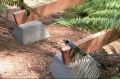 How to build a wooden footbridge (video!)... Ron Hazleton has great DIY projects for the home and garden. Maybe someday I'll get to try this one.