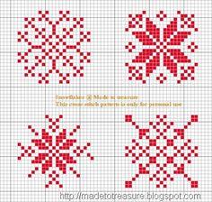 Cross Stitch -  patrón para bordar en punto cruz, nieve