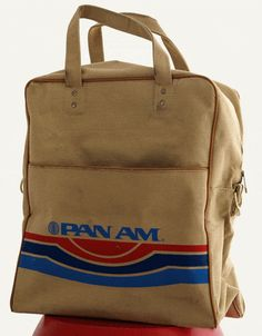 vintage flight bag pan american