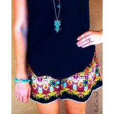 Love this look by realcutestyle! The black top and printed shorts are TJMaxx scores! via Instagram
