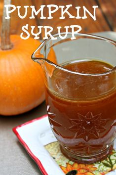 Make Pumpkin Syrup: 1/2 C pumpkin puree; 1 C sugar  Directions: 1. Combine ingredients in saucepan. 2. Heat gradually on stove. 3. Stir till sugar is dissolved.