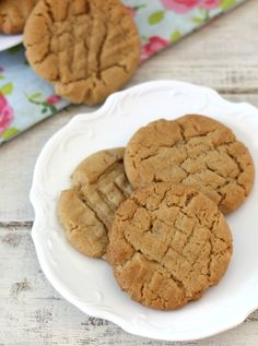 The Ultimate Peanut Butter Cookies  - A perfect peanut butter flavored cookie with crisp edges, soft center with a secret added touch of maple syrup.  I was told at work that they were the best PB cookies ever!  Needless to say, I have to make them again this weekend!