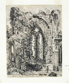 Netley Abbey: the east window, John Constable, 1816