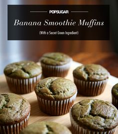 Banana (and Spinach) Smoothie Muffins - Change flour to almond flour and applesauce instead of sugar.