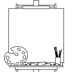 Easel and blank canvas