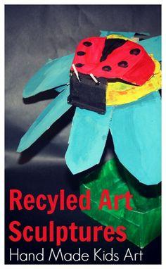 Recycled Art Sculptures - Hand Made Kids Art