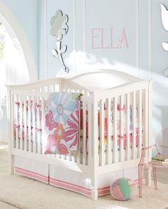 How to Choose Color for a Girl's Nursery-I am leaning towards the Sweet Bluette to go with my cherry blossom decal I just ordered.