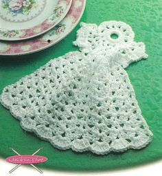 X836 Crochet PATTERN ONLY Angel Dishcloth Pattern Christmas