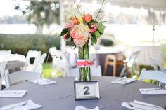 Modern Elegant Coral and Gray Wedding