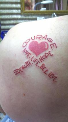cancer ribbon tattoos | Breast cancer ribbon – Tattoo Picture at CheckoutMyInk.com