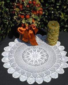 lace doily pinappl doili, doili heaven, crochet doili, lace doili