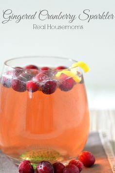 Gingered Cranberry Sparkler Cocktail