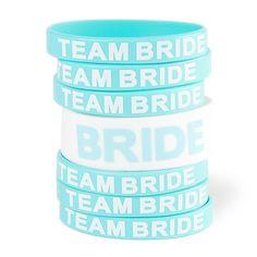 Bride and Team Bride Rubber Bracelets Set of 7