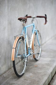 beautiful blue bike