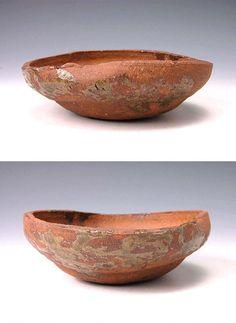 Red Iga cake bowl, Meiji era