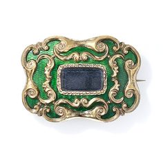 Early Victorian Enameled Memorial Brooch - 50-1-1179 - Lang Antiques