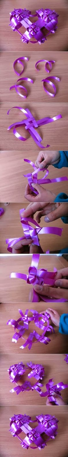 My DIY Projects: Diy Ribbon Heart Ornament