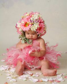 Flower Bonnet & TuTu Set by LillieBelleBoutique on Etsy,