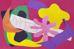 Inspired by Matisse cut paper work