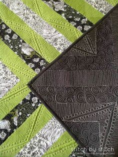 Stitch by Stitch: Asymmetrical Half Square Triangle Quilt - A FINISH