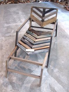 Pallet / Wood, diy lounge chair.