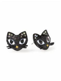 Cat Stud Earrings $25