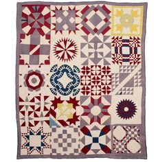 Sampler Quilt | From a unique collection of antique and modern quilts at http://www.1stdibs.com/furniture/folk-art/quilts/