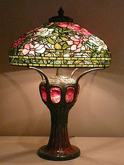 Tiffany Peony Lamp. Designed by Clara Driscoll for Tiffany Glass.