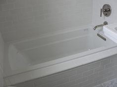 Kohler Archer Drop-In Tub with Daltile Subway Tile in Kohler White 1 by onestorybuilding, via Flickr
