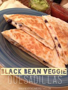 Never The Same Spice Twice: Black Bean Veggie Quesadillas via @Stephanie Skoblicki