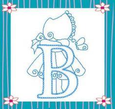 Sunbonnet Alphabet alfabeto, bagoefilo, bordar, sunbonnet sue, aplicacio, bordado, alphabet, abecedario, embroideri