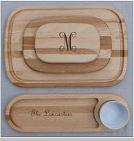 personalized artisan wooden cutting boards
