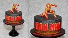 Iron man cake man cake, torta iron man, superhero cake, bday cake