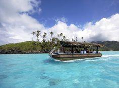 'Moana Roa' Muri Lagoon cruiser at Pacific Resort Rarotonga.